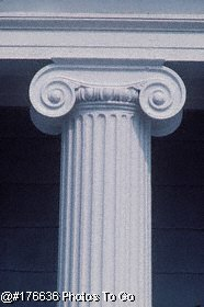 Ionic Column and entablature